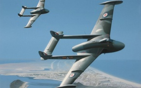 Picture aircraft, art, painting, drawing, venom jet