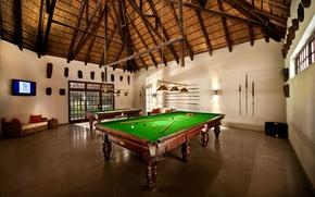 Picture style, table, room, sofa, ball, interior, TV, Billiards, cue, billiard room