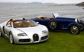 Picture retro, silver, Veyron, Roadster, convertible, classic, Buggati, Gran Sport