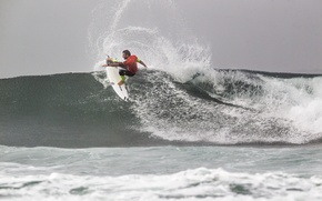 Picture sea, wave, squirt, surfer, sea, splash, wave, surfer, surfboard, Joel Parkinson, extreme sports, Joel Parkinson, …