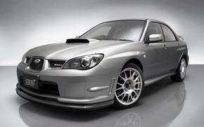 Wallpaper Grey, Subaru, Impreza