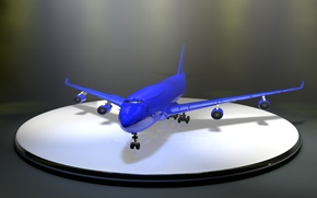 Picture rendering, the plane, Boeing