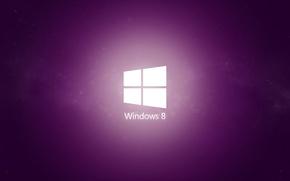 Wallpaper minimal, windows, purple, 8.1