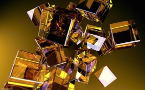 Picture reflection, cubes, Shine