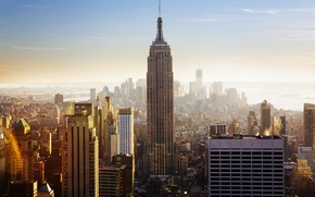 Picture USA, United States, skyline, New York, Manhattan, NYC, New York City, day, Empire State Building, …