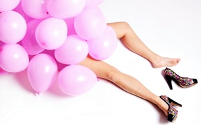 Picture legs, balloons, heels, Life Of The Party