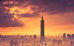Wallpaper heat, Taiwan province of, China, the sky, Taipei, clouds