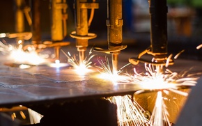 Wallpaper fire, sparks, welding, metallurgy