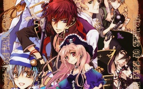 Picture weapons, hat, wick, pirates, anise yumamoto, seiran asagi, kaede higa, kiss of rose princess, mutsuki …