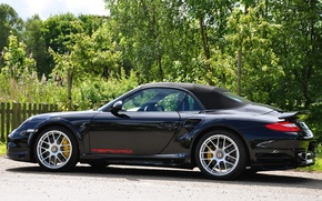 Picture cabriolet, convertible, car, 911, auto, Porsche, merdad, black., sports, Porsche 911, 650 r ss