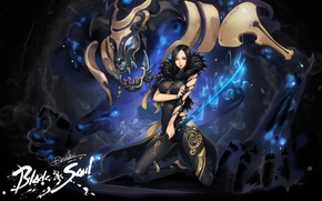 Picture girl, sword, the demon, Blade&Soul