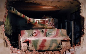 Picture Tiger, the ruins, Museum, German heavy tank, tiger I