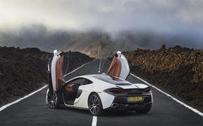 Picture white, McLaren, door, supercar, car, open, chic, 570GT