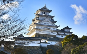 Picture castle, Japan, pagoda, Palace