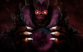 Picture skull, the demon, art, claws, Dota 2, Shadow Demon, Anti-Mage