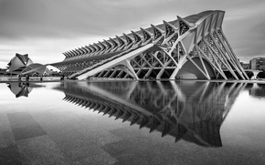 Picture the building, black and white, architecture, Spain, Valencia