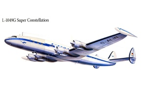 Picture flight, the plane, figure, wings, propeller, Super Constellation, L-1049