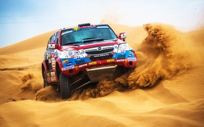 Wallpaper Machine, Sand, Dune, Desert, Auto, Speed, Day, Rally, Sport, Dakar, Opel, SUV, Race