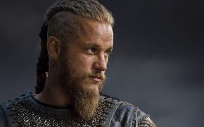 Picture warrior, beard, the Vikings, vikings, travis fimmel, ragnar, Ragnar