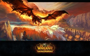 Picture flame, dragon, blizzard, wow, world of warcraft, Deathwing, deathwing