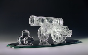 Picture glass, wheel, mirror, crystal, gun, engraving, decor, kernel, Gus ' -Khrustal'nyy