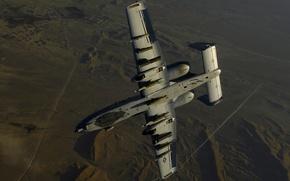 Wallpaper the plane, Thunderbolt 2, A-10, bomber, USA