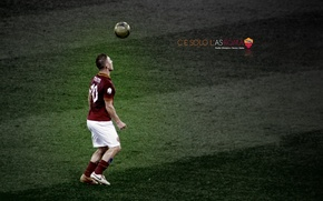 Picture wallpaper, sport, Italy, football, legend, player, AS Roma, Francesco Totti