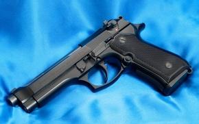 Picture Gun, Trunk, 9mm, Beretta, Beretta 92F, Canvas