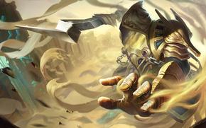 Picture sand, hand, MAG, art, Heroes of Newerth, Sand Wraith, Khamsin Sand Wraith