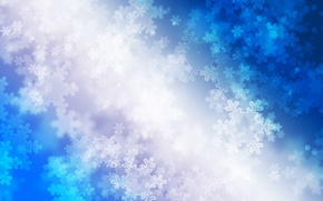 Wallpaper lights, blue, snowflakes, winter