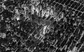 Picture lights, USA, United States, design, night, New York, Manhattan, NYC, New York City, evening, black …