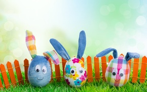 Picture grass, eggs, spring, Easter, Easter