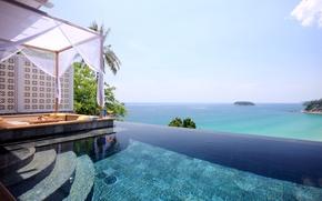 Picture sea, landscape, pool, nature