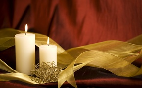 Picture holiday, candles, tape, New year, decoration