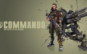 Picture gun, Commando, Commando, turret, people, Borderland 2