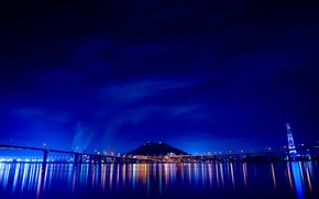 Wallpaper lights, night, bridge