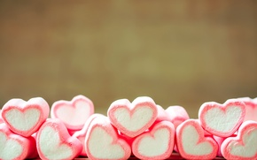 Wallpaper marshmallows, candy, romance, hearts, sweet, love, romantic, sweet, love, heart, candy