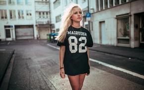 Picture summer, style, street, portrait, Model