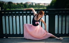 Picture girl, the city, dance, ballerina, Rebecca