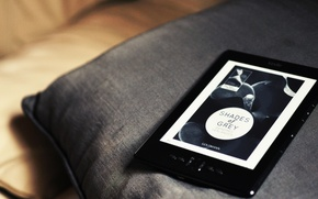 Picture pillow, book, 50 shades of grey