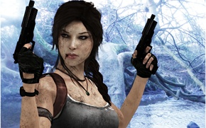 Picture guns, wallpaper, Tomb Raider, game, Lara Croft, Square Enix, Lara Croft, Tomb raider