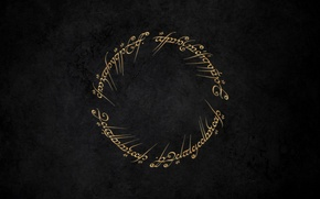 Picture labels, wall, round, the Lord of the rings, spell