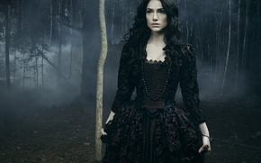 Wallpaper ring, brunette, evil, darkness, witch, Salem, TV series, Janet Montgomery, Mary Sibley, emissary of evil