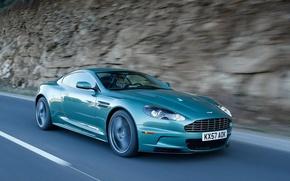 Picture road, blue, Aston M artin
