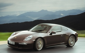Picture 911, Porsche, Machine, Car, Porsche, Car, Brown, Cars, Coupe, Carrera, Coupe, Brown, Carrera