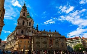 Picture the sky, street, home, Prague, Czech Republic