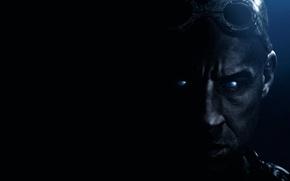 Picture face, darkness, VIN Diesel, Vin Diesel, Riddick, Riddick 3D