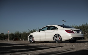Picture Mercedes, Benz, white, side, Mercedes, AMG, CLS63