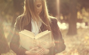 Picture girl, background, book