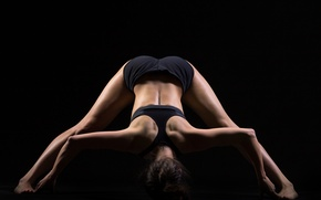 Picture pose, back, yoga, stretching